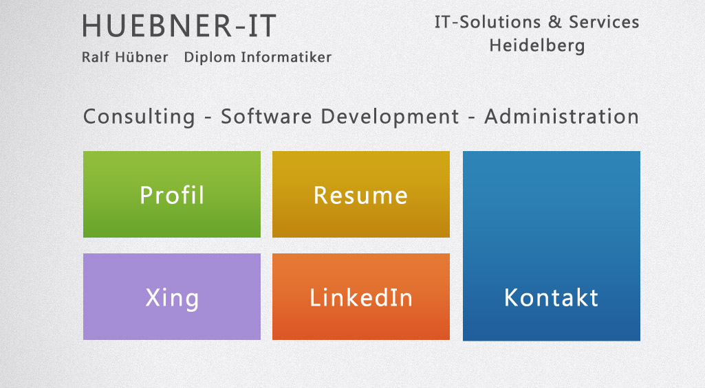 HuebnerIT Solutions & Services Heidelberg - Consulting - Software Development - Administration